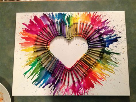 Crayon Art! Arts And Crafts Project  Favorite Crafts
