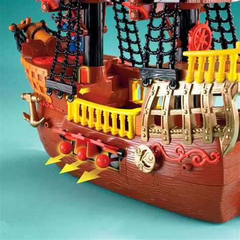 Pirate Boat Toy by Fisher Price Imaginext Adventures Pirate Ship