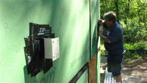 deck brackets space ledger wall homebuilding