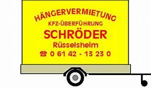 Transporter Mieten Frankfurt : anh ngervermietung h ngervermietung kfz berf hrung schr der r sselsheim anh nger h nger ~ Markanthonyermac.com Haus und Dekorationen