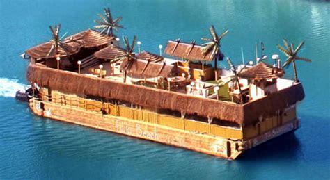 Tiki Party Boat Miami by Tikki Beach Miami S Only Floating Party Tropical Island