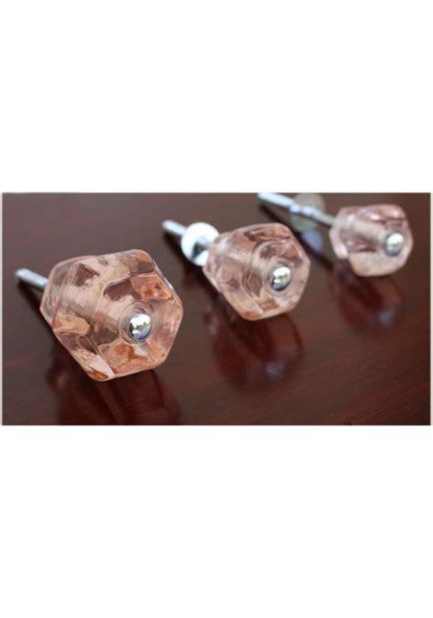 1 25 quot pink glass cabinet knobs pulls vintage dresser drawer hardware 10 pcs the bay