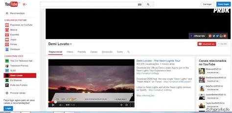 O perfil de Demi Lovato no Youtube também ficou todo preto