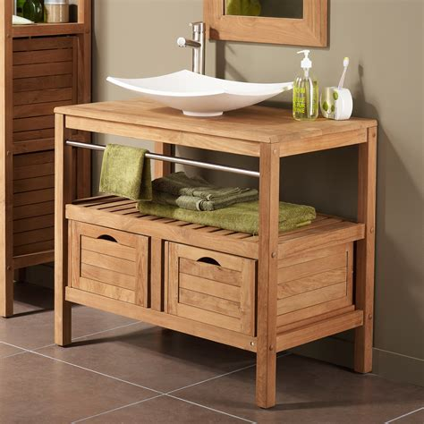 meuble sous vasque avec plan 2 tiroirs sdb chalet meuble sous vasque vasque