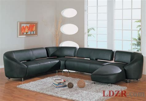 modern black leather sofa in living room home design and ideas