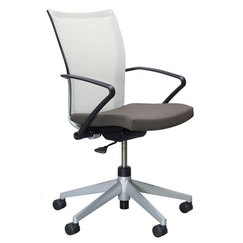 haworth x99 used task chair brown and white national