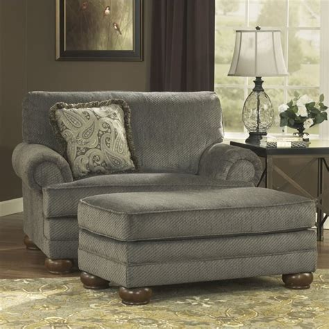 parcal estates fabric oversized chair with ottoman in basil 74005 23 14 pkg