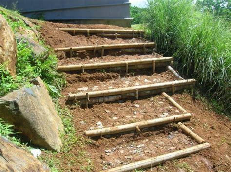 confection d escalier en rondin de bois de lesjardinsdebonnemere