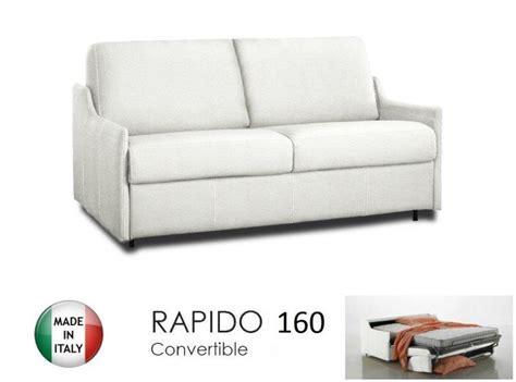 canap 201 lit 4 places convertible ouverture rapido 160 cm cuir vachette blanc comparer les