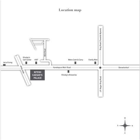 nitesh caesars palace location nitesh caesars palace address and map