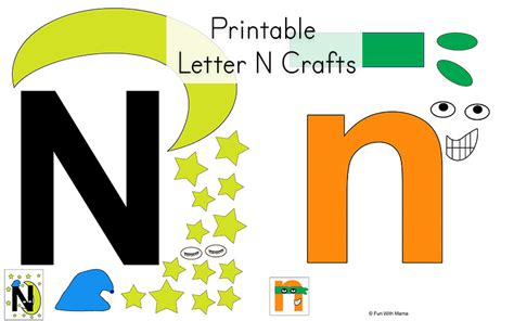 Letter N Preschool Printable Pack Modern Island Kitchen Dining Table Ideas Islands And Carts Furniture Images Of Small With Seating For Sale Mobile White Cabinets Yellow Walls Where To Buy Tables