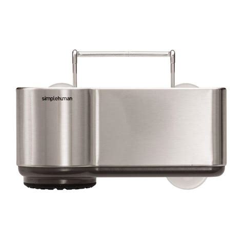 simplehuman sink caddy in brushed stainless steel kt1116