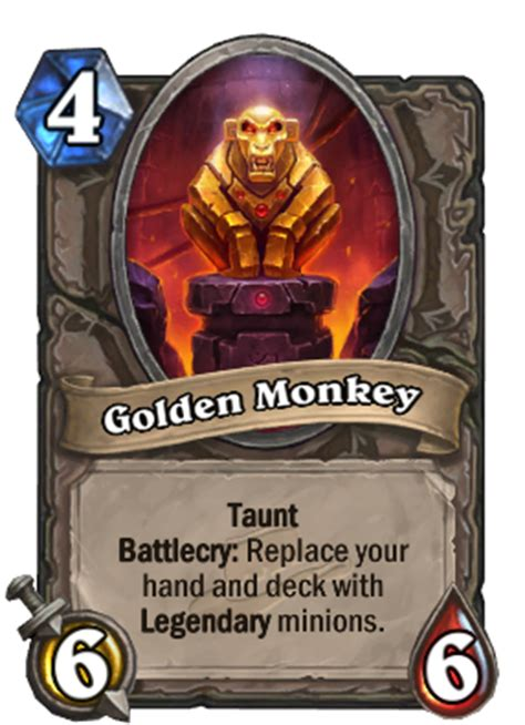 golden monkey hearthstone card