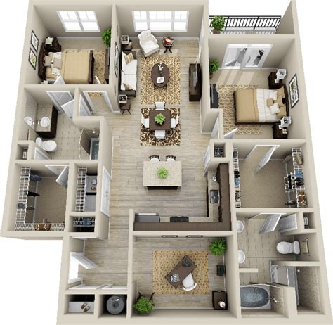 smart placement small house design plan ideas 3d 2 bedroom apartment search deco
