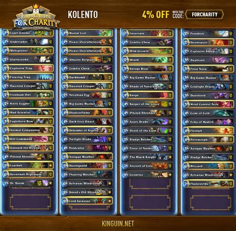 hearthstone kinguin for charity winter edition 2015