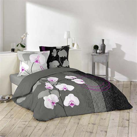 housse de couette 240x220 2 personnes 100 coton purity fleurs orchidee