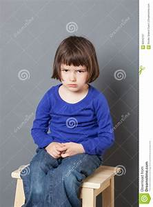 Kid Attitude Concept For Sulking 4-year Old Child Stock ...