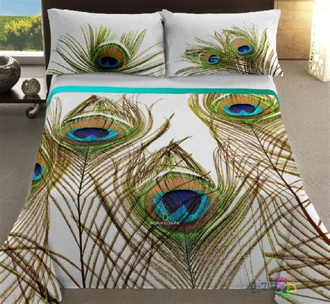 cubre dual ng pavo real peacock feather bedding pillow