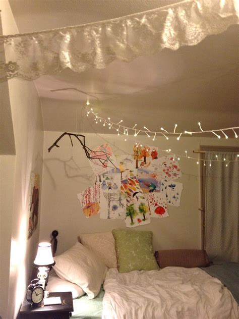 Bedroom Design Ideas For Small With String Lights And Also
