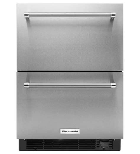 r 233 frig 233 rateur tiroir cong 233 lateur kitchenaid 174 de 24 po en acier inoxydable kudf204esb acier