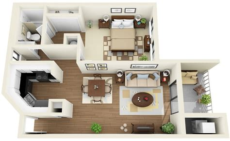 """50 One """"1"""" Bedroom Apartment/house Plans"""
