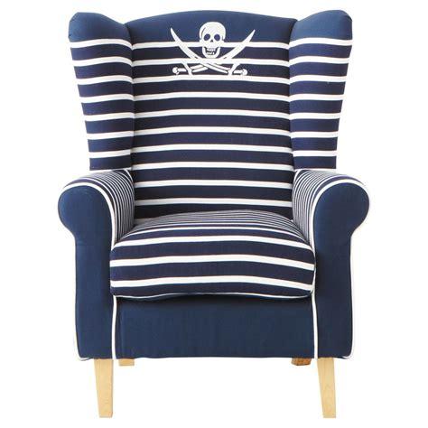 fauteuil enfant en coton 233 bleu marine pirate maisons du monde