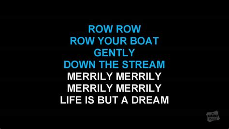 Round Your Boat by Row Row Row Your Boat Round Version In The Style Of