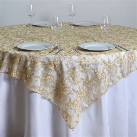 """72x72"""" Floral Lace Table Overlay Wedding Linens. Hanging Closet Organizer With Drawers. Computer Desk Armoire. Sewing Table Plans. Amish Writing Desk. White Round Kitchen Table. Coffee Table With Storage Ottomans Underneath. Add A Drawer To A Table. Coffee Table For Small Living Room"""