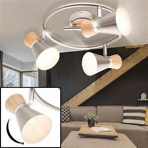 Deckenlampe Aus Holz : rondell deckenlampe aus holz und chrom mit beweglichen spots lampen m bel innenleuchten ~ Markanthonyermac.com Haus und Dekorationen