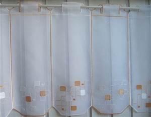 Scheibengardine 45 Cm Breit : scheibengardine wei apricot modern stickmuster 45 cm hoch ~ Markanthonyermac.com Haus und Dekorationen