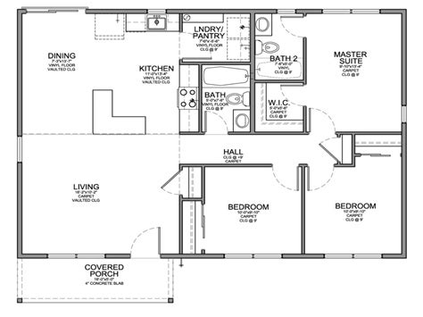 small bedroom cottage plans photo small 3 bedroom house floor plans simple 4 bedroom house
