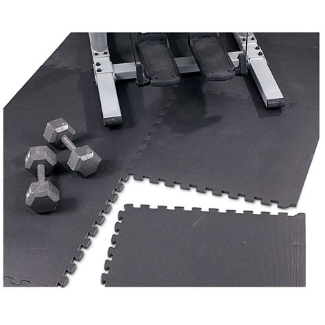 puzzle mat floor protector black 99324 rugs at