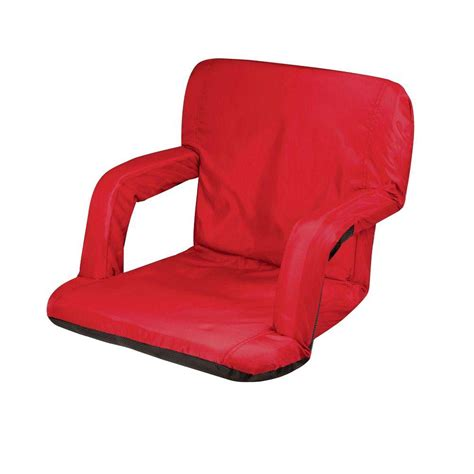 picnic time ventura seat portable recreational recliner 618 00 100 000 0 the home depot