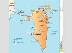 Bahrein Politische Karte