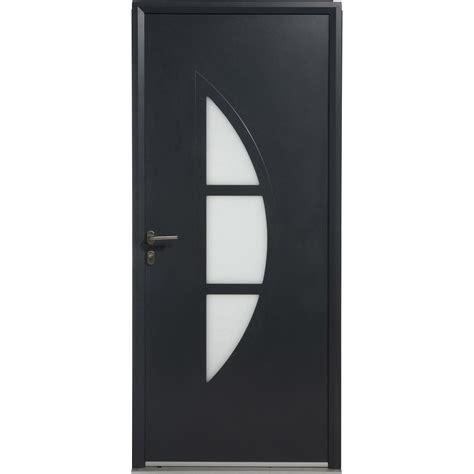 porte d entr 233 e aluminium omaha artens poussant gauche h 215 x l 90 cm leroy merlin