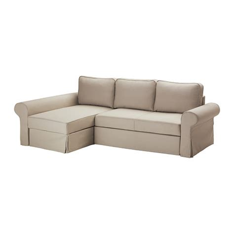backabro cover for sofa bed with chaise tygelsj 246 beige ikea