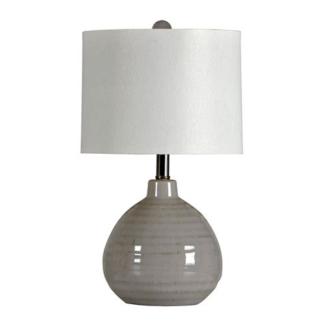 Rustic Sofas For Sale by Cool Gray Ceramic Accent Lamp