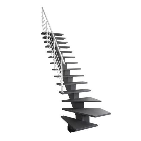 escalier quart tournant bas gauche gomera m 233 dium mdf leroy merlin