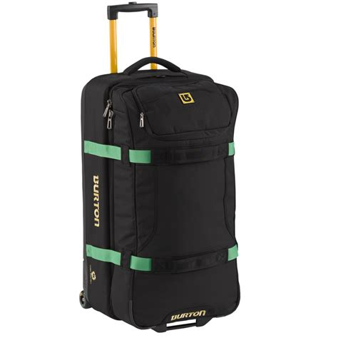 burton deck luggage burton wheelie deck travel bag true black ballistic