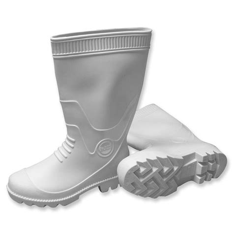 Rubber Boots Home Depot by Mat Pvc White Boots Size 9 887009w The Home Depot