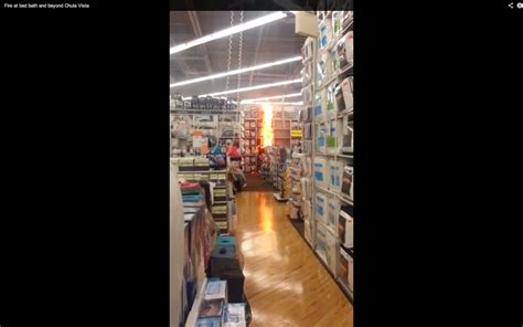Bed Bath And Beyond Fire Caught On Tape By Customer (video Vertical Blind Slat Replacement Uk Blinds To Go Long Island Ny N More Hot Springs Redneck Windows Reviews For Budget 8ft Blackout Roller Themes 7 Door Cardiff
