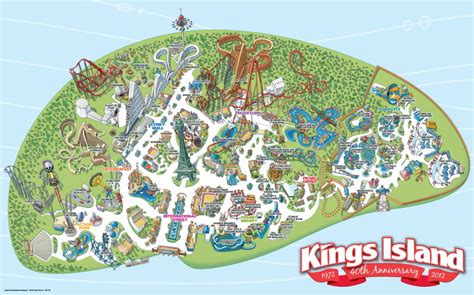 Kings Island Halloween Haunt 2016 by Park Map