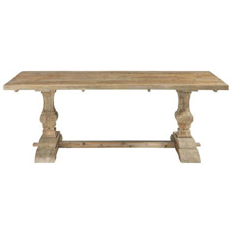 distressed wood dining table w 220cm lourmarin maisons du monde