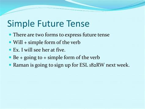 Ppt  Simple Future Tense Powerpoint Presentation Id554523