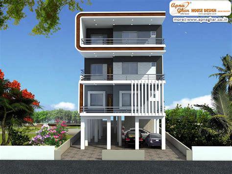 3 Floor Home Design : 3 Bedrooms Independent Floor Design In 408m2 (12m X 34m