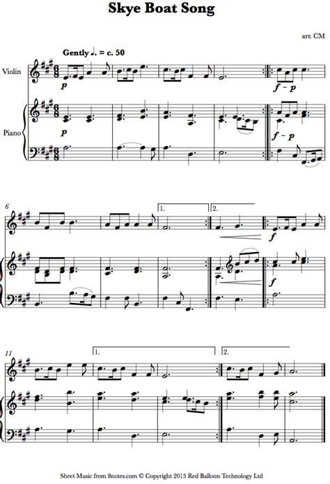 Skye Boat Song For Violin skye boat song sheet music for violin 8notes