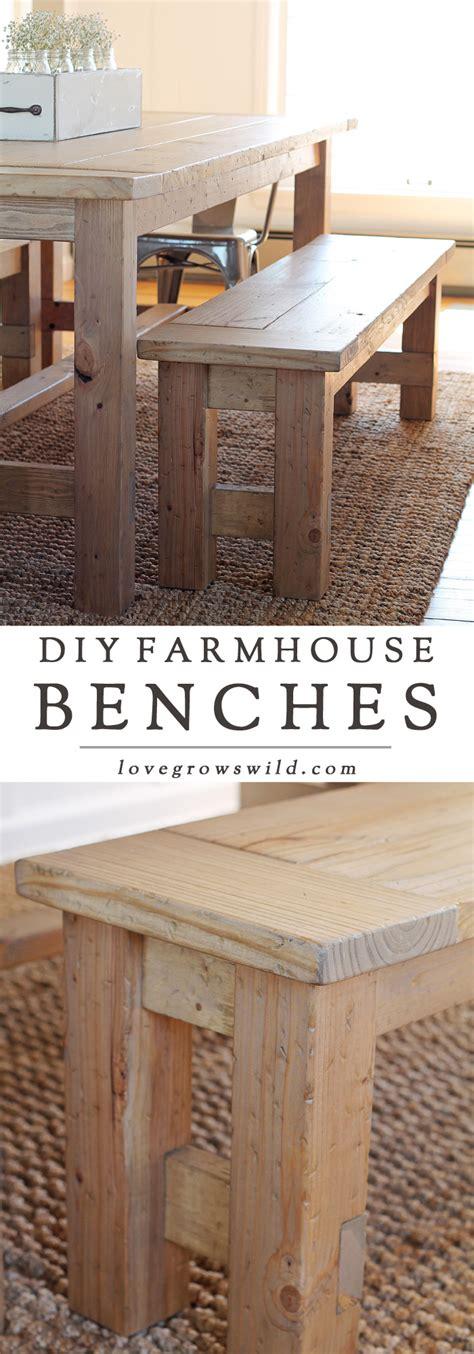 Diy Farmhouse Bench  Love Grows Wild