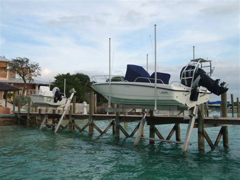 Boat Lift In Spanish by Complete Marine Services Spanish Wells Bahamas