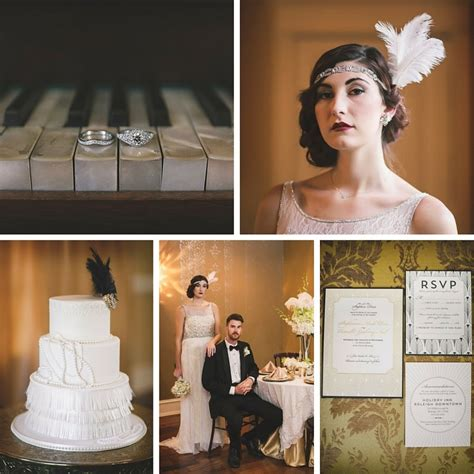 glamorous deco wedding inspiration chic vintage brides