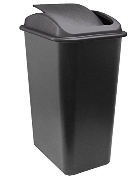 united solutions wb0236 41 quart slim fit wastebasket with